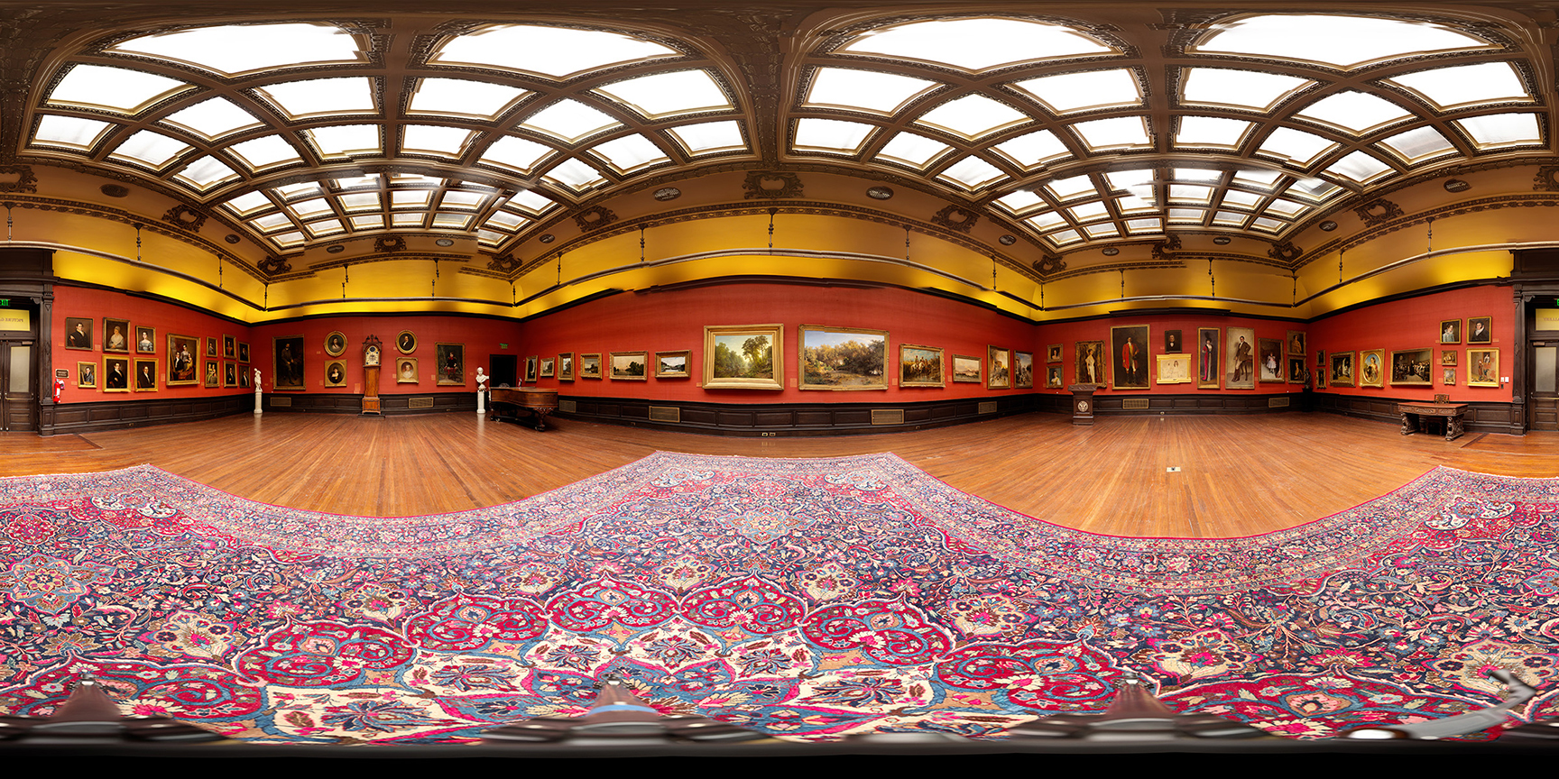 3D panorama, A.J.Drexel Picture Gallery. (re-creation), Main Building, Drexel University. Photographers: Nick Jushchyshyn and Sarah Kenderdine.