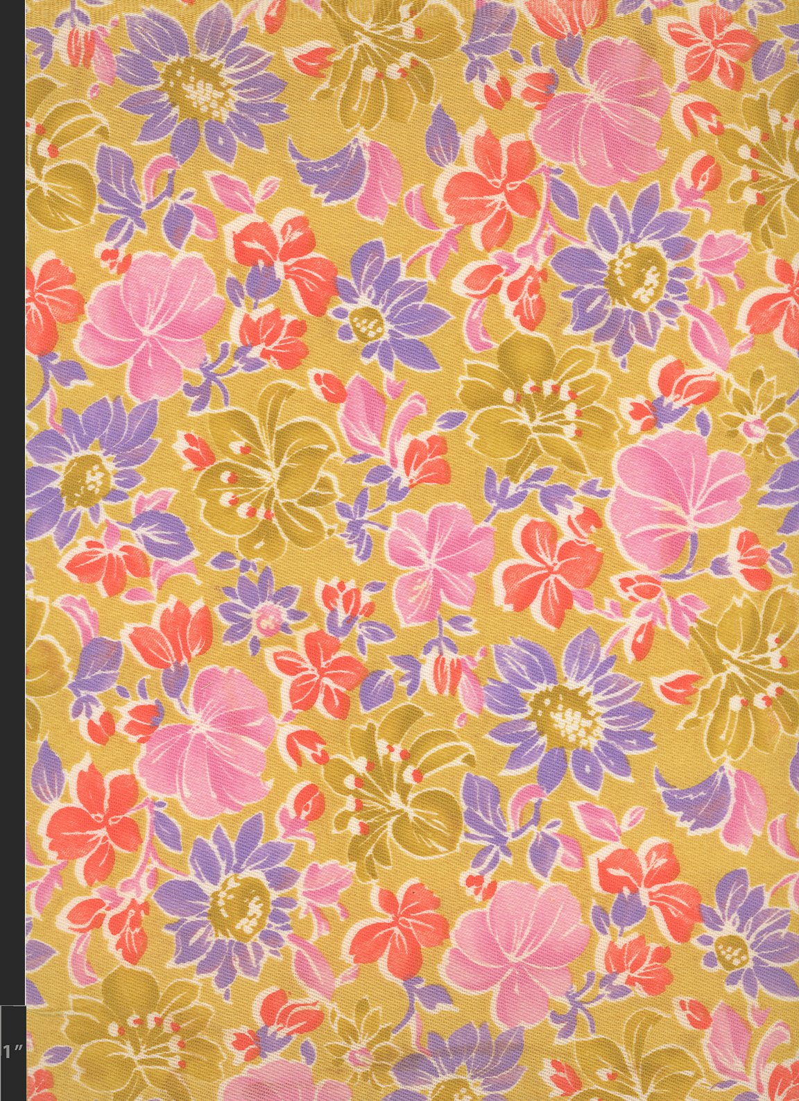 Marielle Bancou Segal floral printed textile design for The Villager 1960s full 1 Drexel Digital Museum 04F