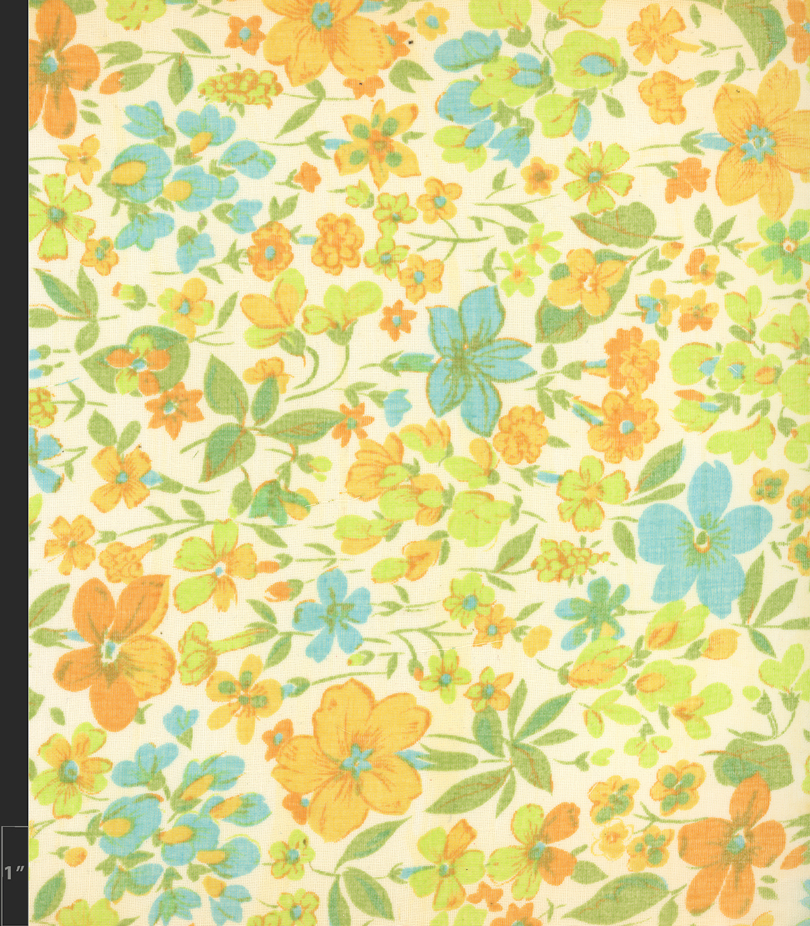Marielle Bancou Segal floral printed textile design for The Villager 1960s full 2 Drexel Digital Museum 05F