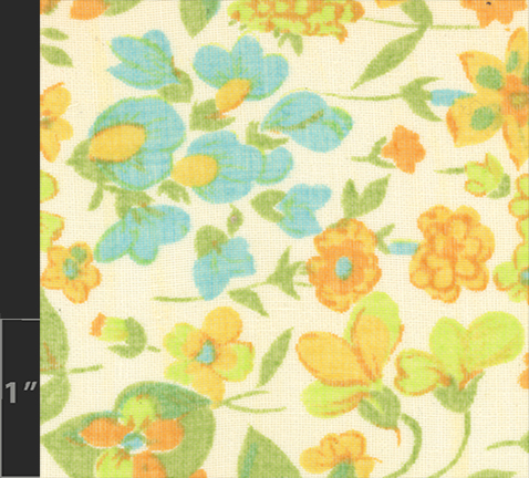Marielle Bancou Segal floral printed textile design for The Villager 1960s swatch 2 Drexel Digital Museum 05