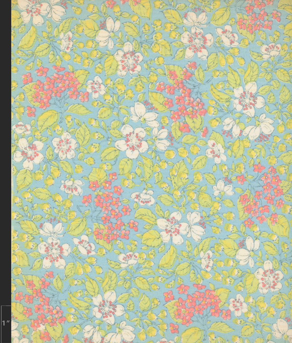 Marielle Bancou Segal floral printed textile design for The Villager 1960s full 4 Drexel Digital Museum 07F