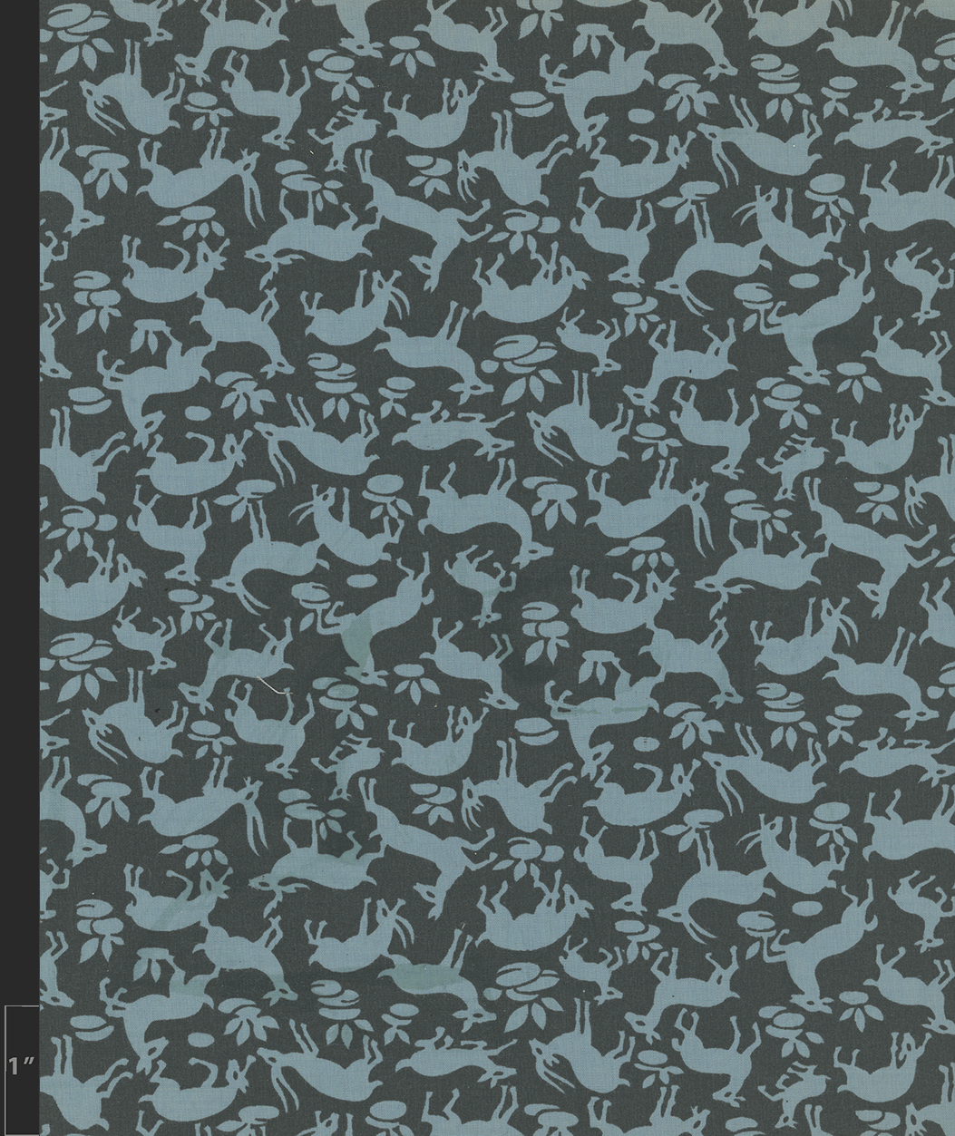 Marielle Bancou Segal conversational printed textile design for The Villager 1960s full 2 Drexel Digital Museum 10F