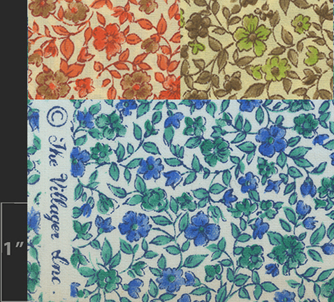 Marielle Bancou Segal colorways of printed textile design for The Villager 1960s swatch 1 Drexel Digital Museum 13