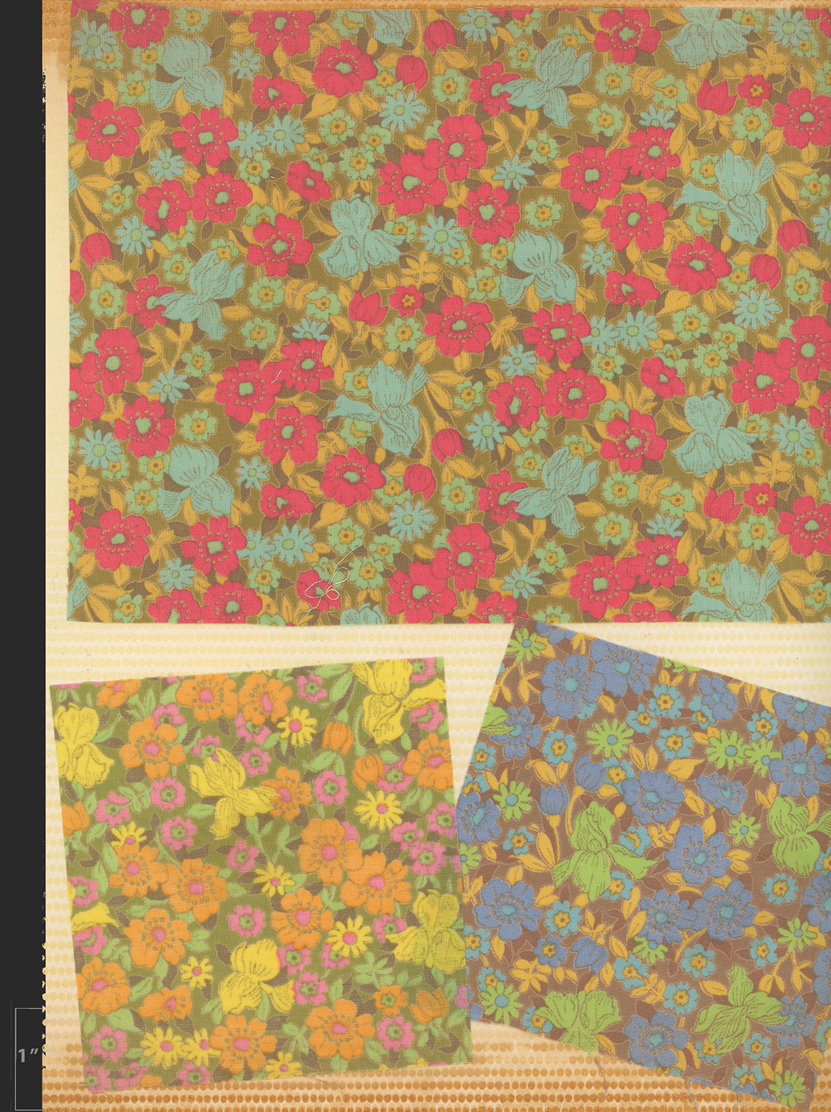 Marielle Bancou Segal colorways of printed textile design for The Villager 1960s full 3 Drexel Digital Museum 14F