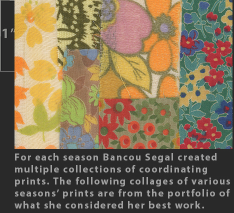 Marielle Bancou Segal colorways of printed textile design for The Villager 1960s  Drexel Digital Museum 16