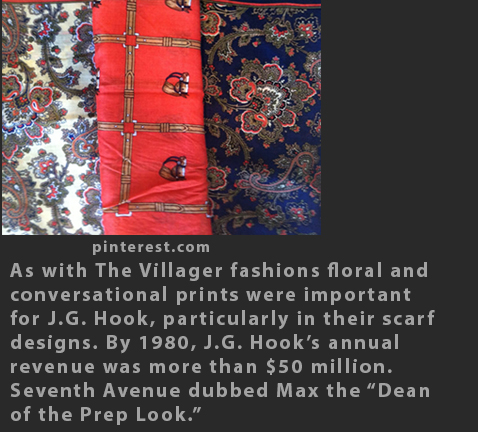 Max Raab J G Hook scarves 1980s fashion
