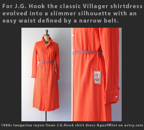 Max Raab J G Hook shirt dress 1970s fashion