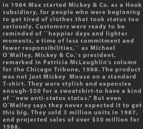 Max Raab Mickey & Co 1980s fashion