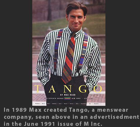 Max Raab Tango mens fashion 1990s Drexel Digital Museum