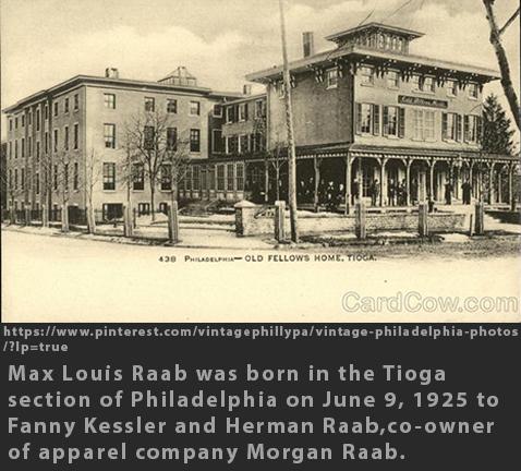 Max Raab Tioga Philadelphia 1925