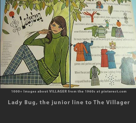 Max Raab Villager Lady Bug fashion advertisement 1960s