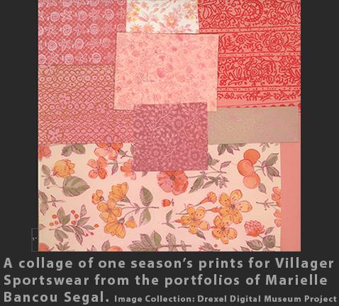 Max Raab Villager Marielle Bancou Segal textile design 1960s Drexel Digital Museum