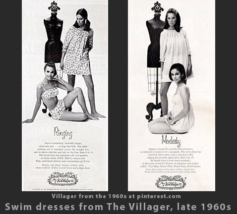 Max Raab Villager swim dresses 1960s